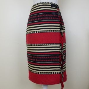Jones New York Blanket Wrap Skirt Size 6 NWT